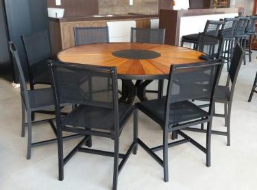 Conjunto de Mesa Zurick Com 8 Cadeiras Recife