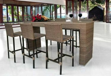 Conjunto Mesa Bistrô Amaralina e 6 Banquetas Bali